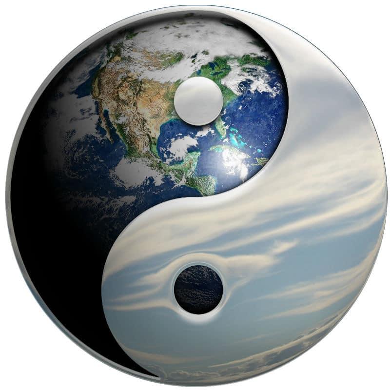 Planeta Tierra Yin Yang